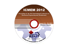 Proceedings of the International Conference on Mechanical Engineering and Mechatronics (ICMEM'12)