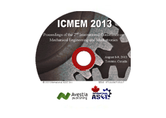 Proceedings of the 2nd International Conference on Mechanical Engineering and Mechatronics (ICMEM'13)